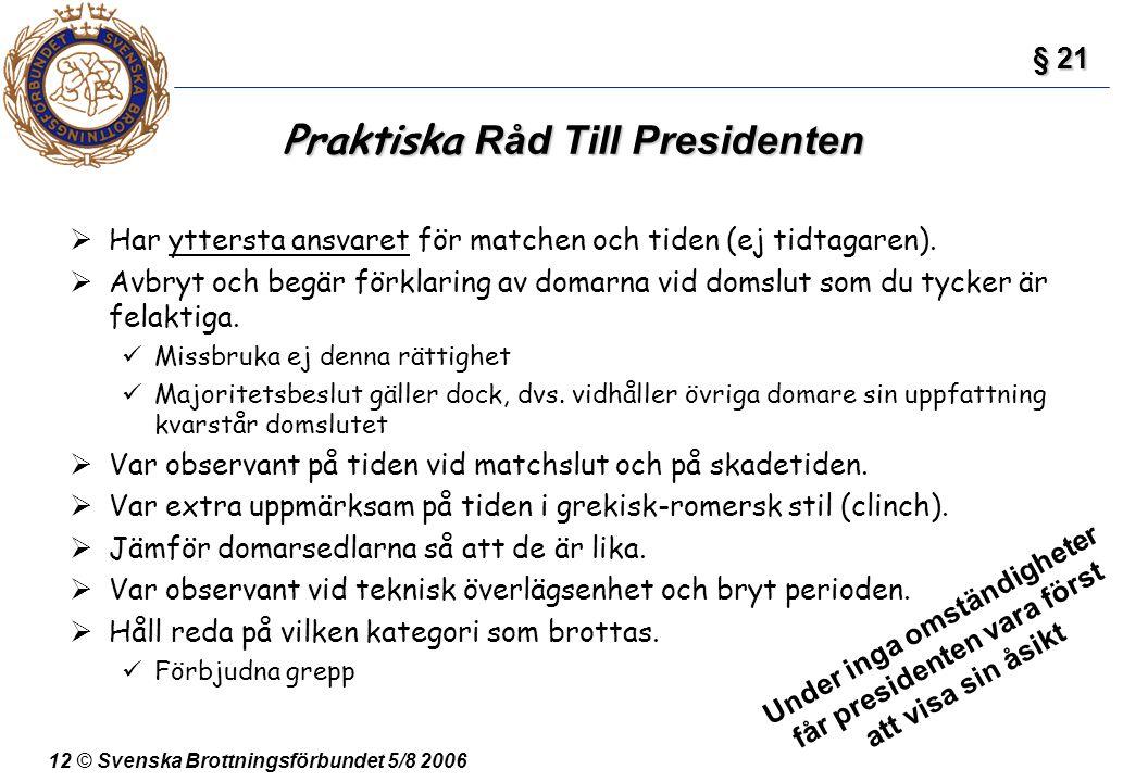 Praktiska Råd Till Presidenten