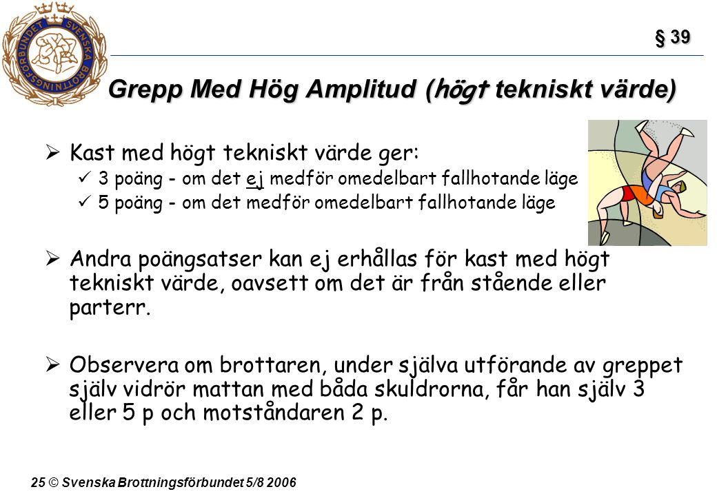 Grepp Med Hög Amplitud (högt tekniskt värde)