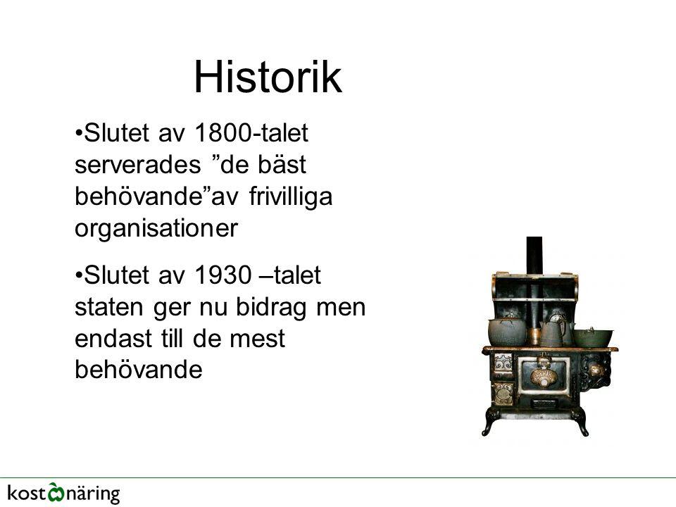 Historik Slutet av 1800-talet serverades de bäst behövande av frivilliga organisationer.