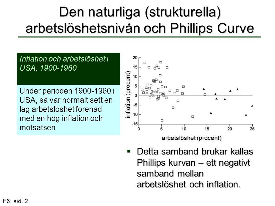 Den naturliga (strukturella) arbetslöshetsnivån och Phillips Curve