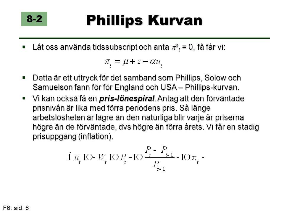 Phillips Kurvan 8-2. Låt oss använda tidssubscript och anta et = 0, få får vi: