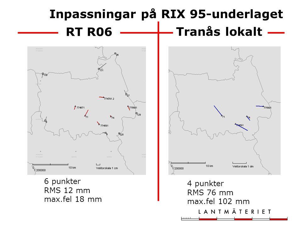 Inpassningar på RIX 95-underlaget