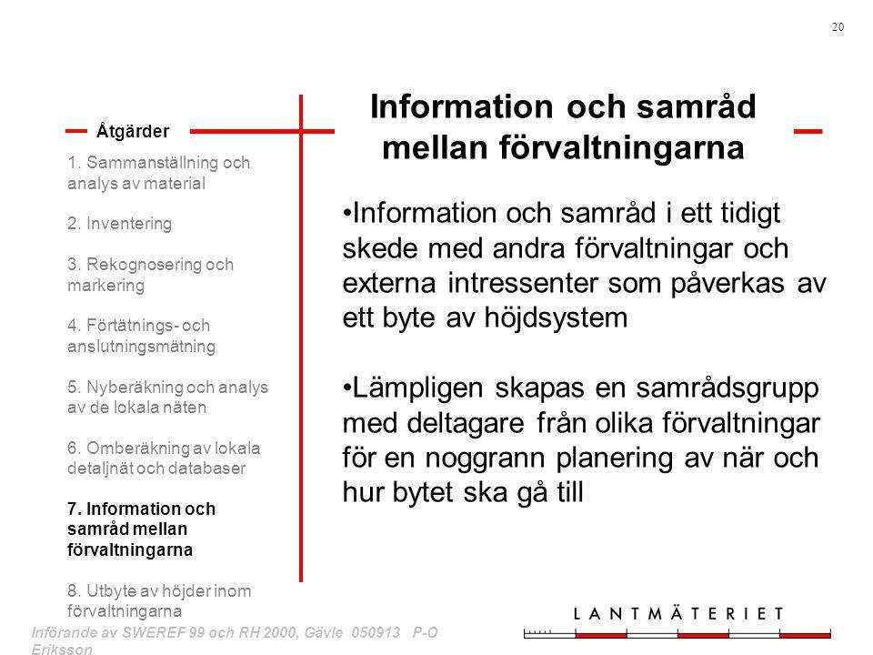 Information och samråd mellan förvaltningarna
