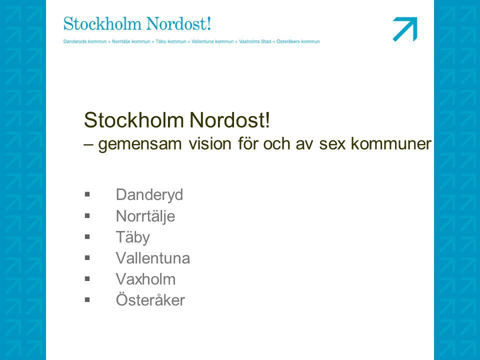 Stockholm Nordost! – gemensam vision för och av sex kommuner