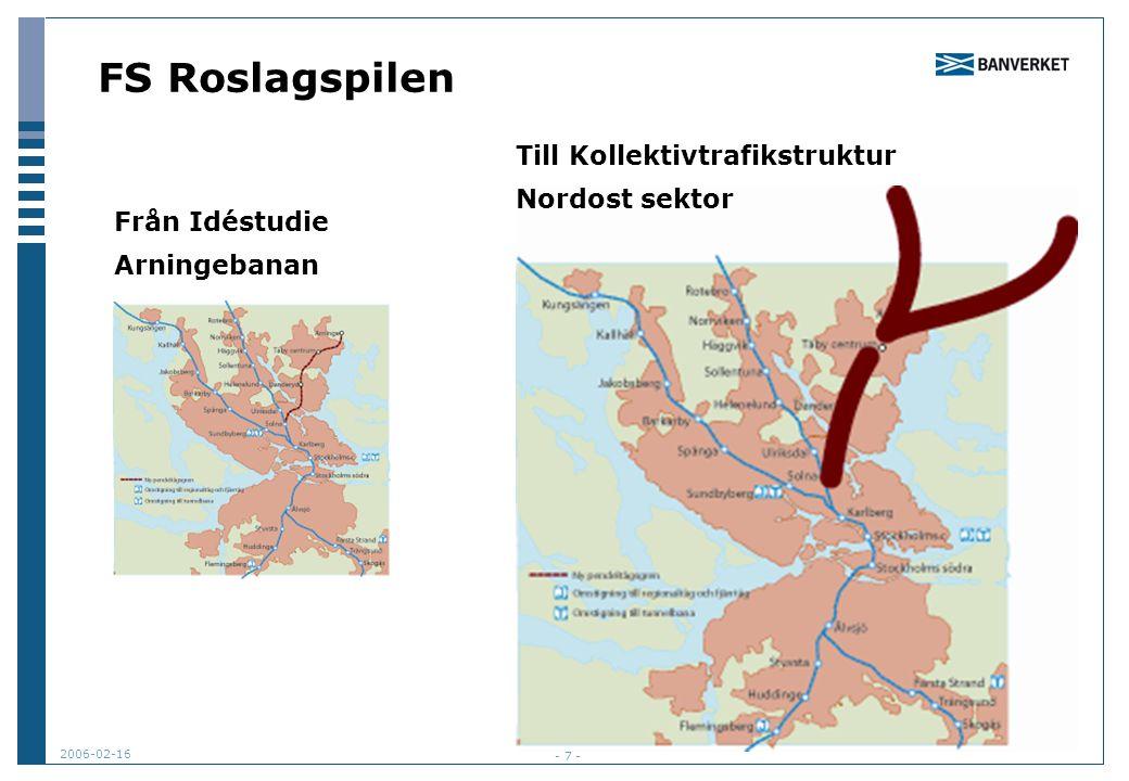 FS Roslagspilen Till Kollektivtrafikstruktur Nordost sektor
