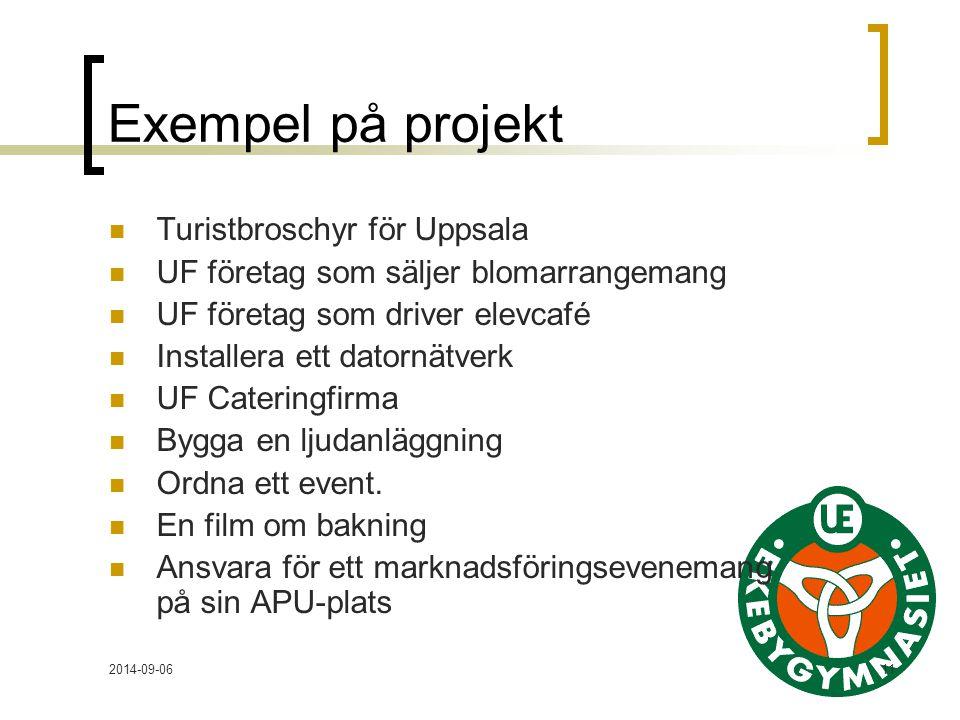 Exempel på projekt Turistbroschyr för Uppsala