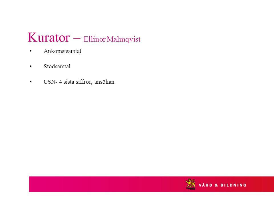 Kurator – Ellinor Malmqvist