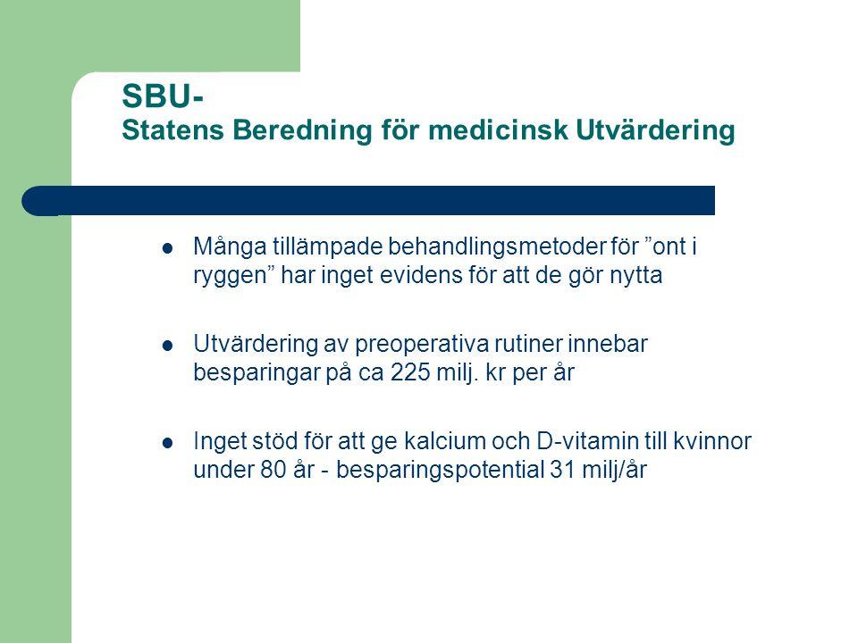 SBU- Statens Beredning för medicinsk Utvärdering