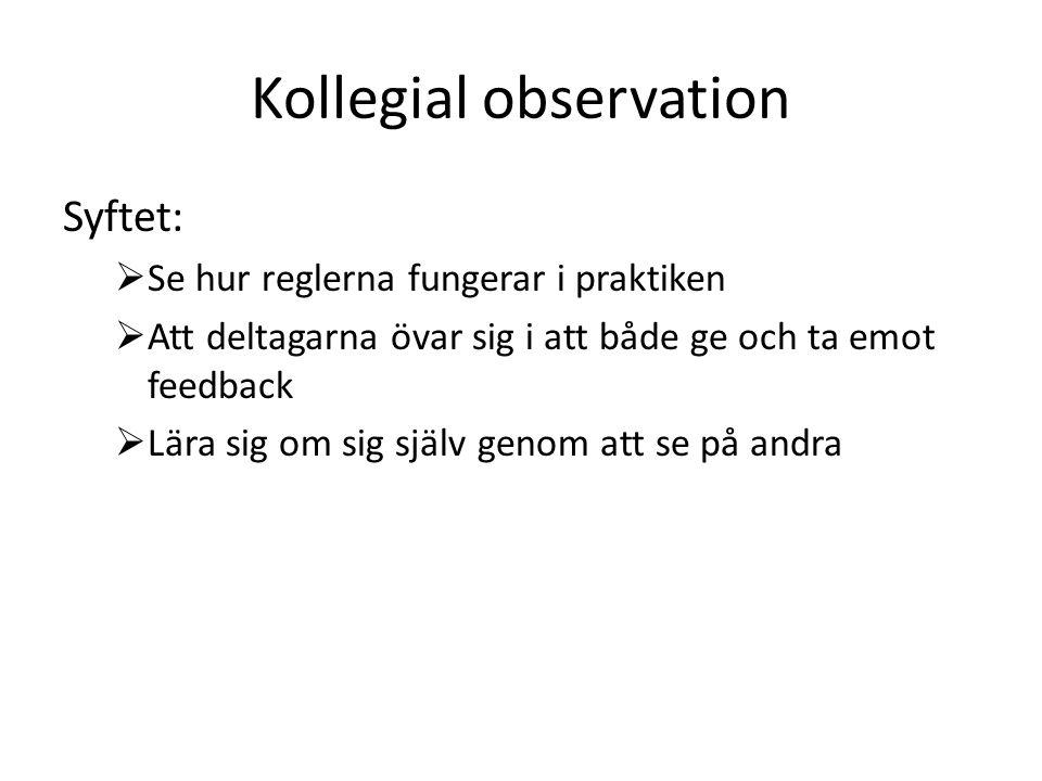 Kollegial observation