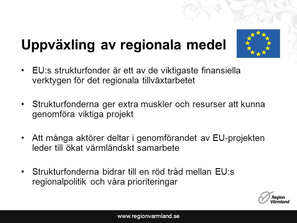 Uppväxling av regionala medel
