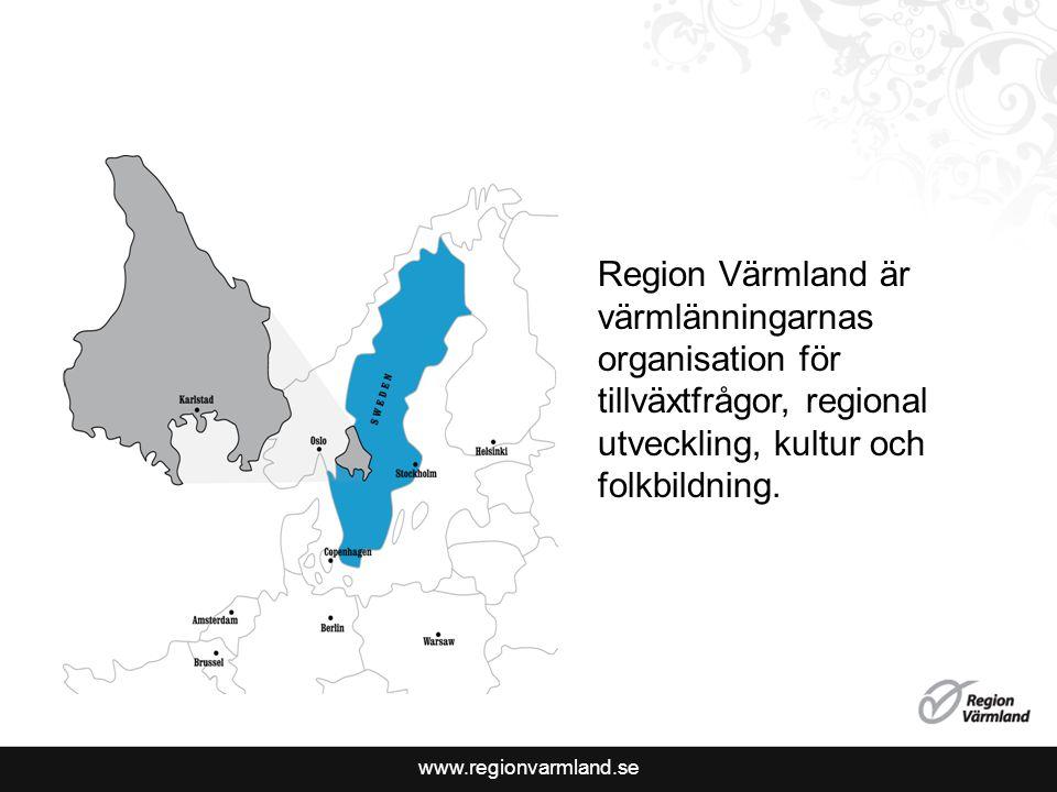 Region Värmland är värmlänningarnas organisation för tillväxtfrågor, regional utveckling, kultur och folkbildning.