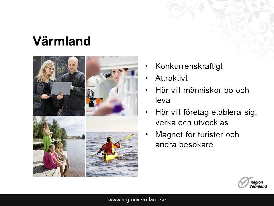 Värmland Konkurrenskraftigt Attraktivt Här vill människor bo och leva