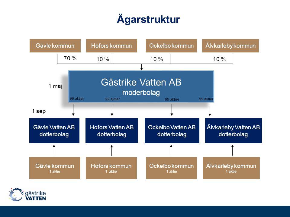 Ägarstruktur Gästrike Vatten AB moderbolag Älvkarleby Vatten AB