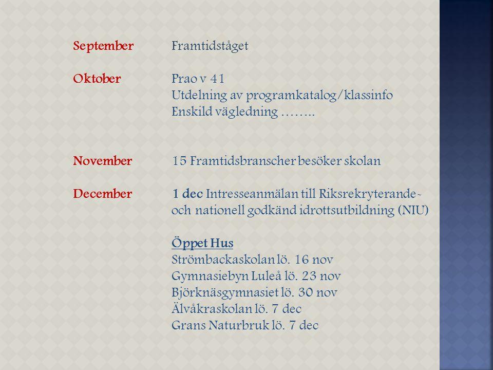 September Framtidståget