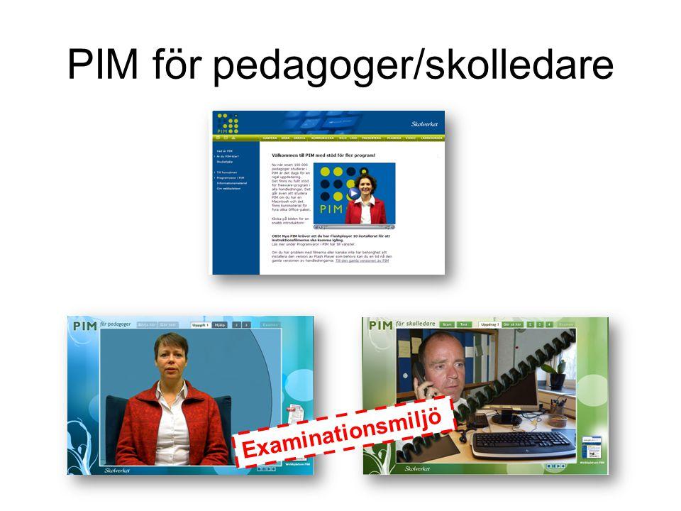 PIM för pedagoger/skolledare