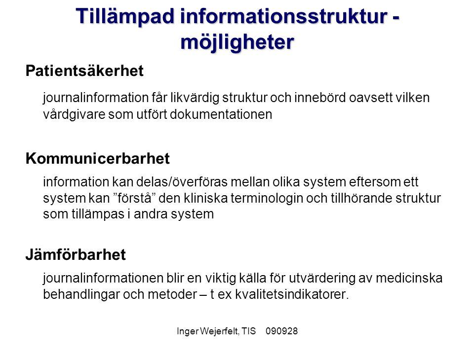Tillämpad informationsstruktur - möjligheter