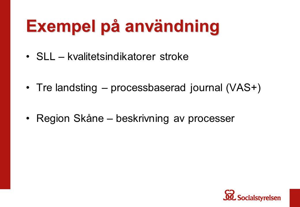Exempel på användning SLL – kvalitetsindikatorer stroke