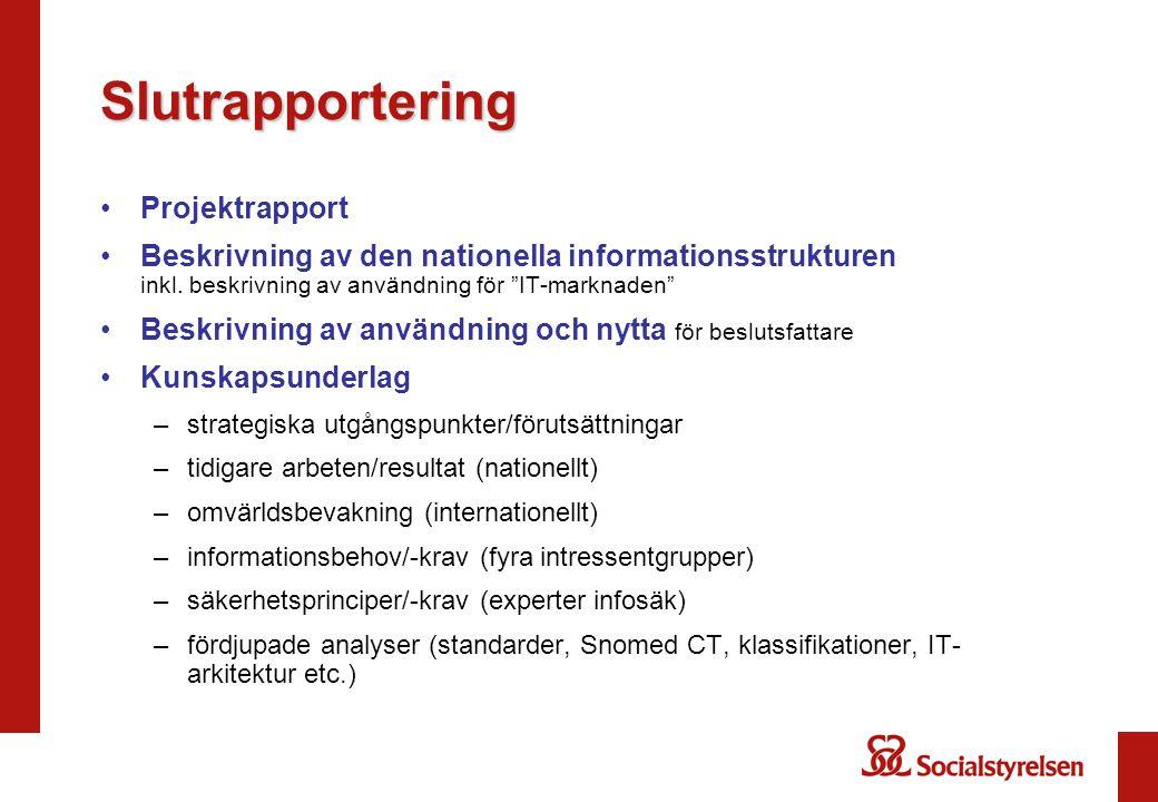 Slutrapportering Projektrapport
