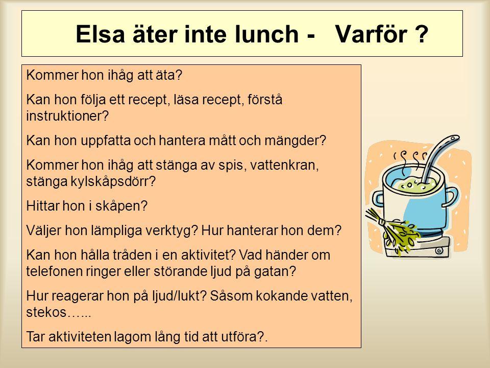 Elsa äter inte lunch - Varför