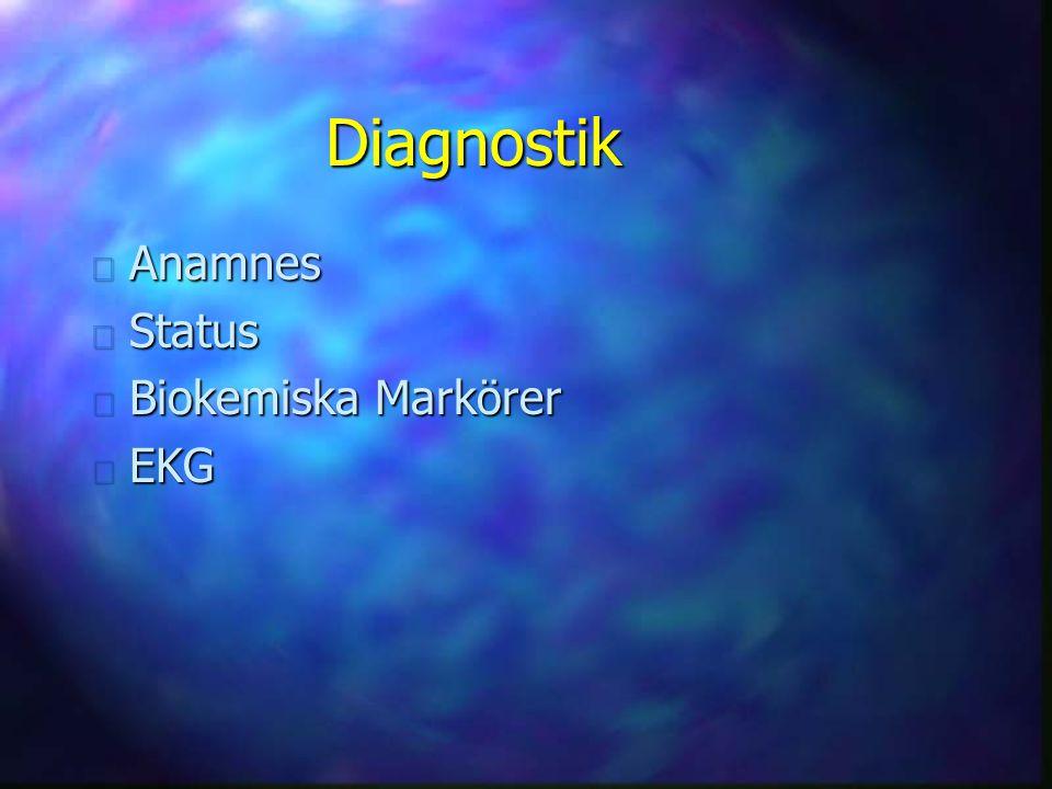 Diagnostik Anamnes Status Biokemiska Markörer EKG