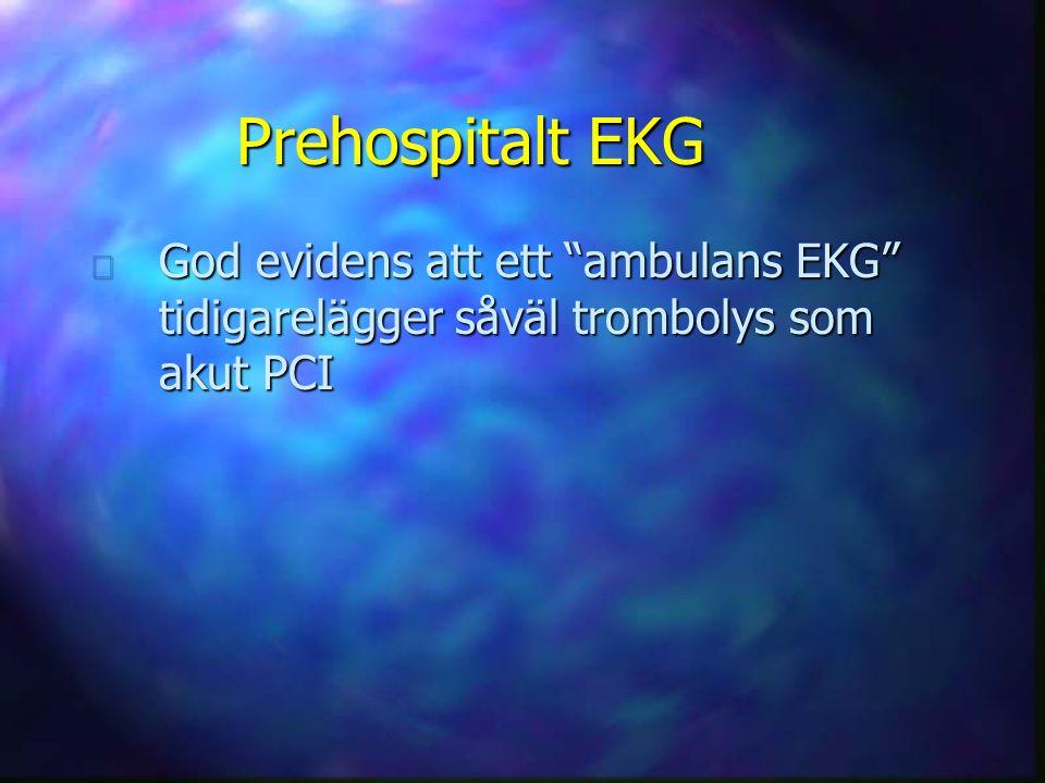 Prehospitalt EKG God evidens att ett ambulans EKG tidigarelägger såväl trombolys som akut PCI