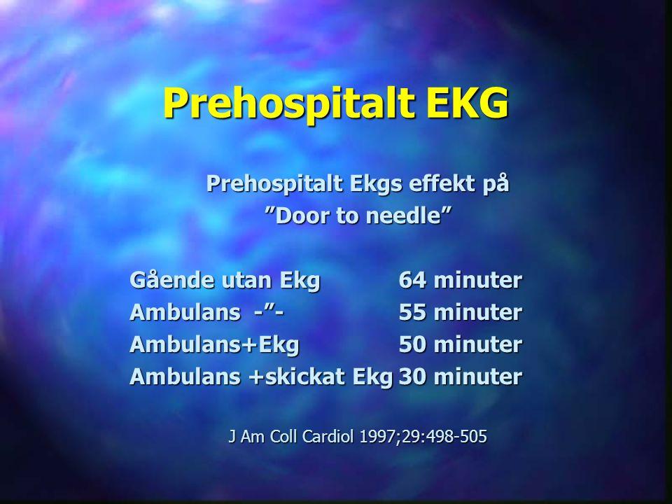 Prehospitalt Ekgs effekt på