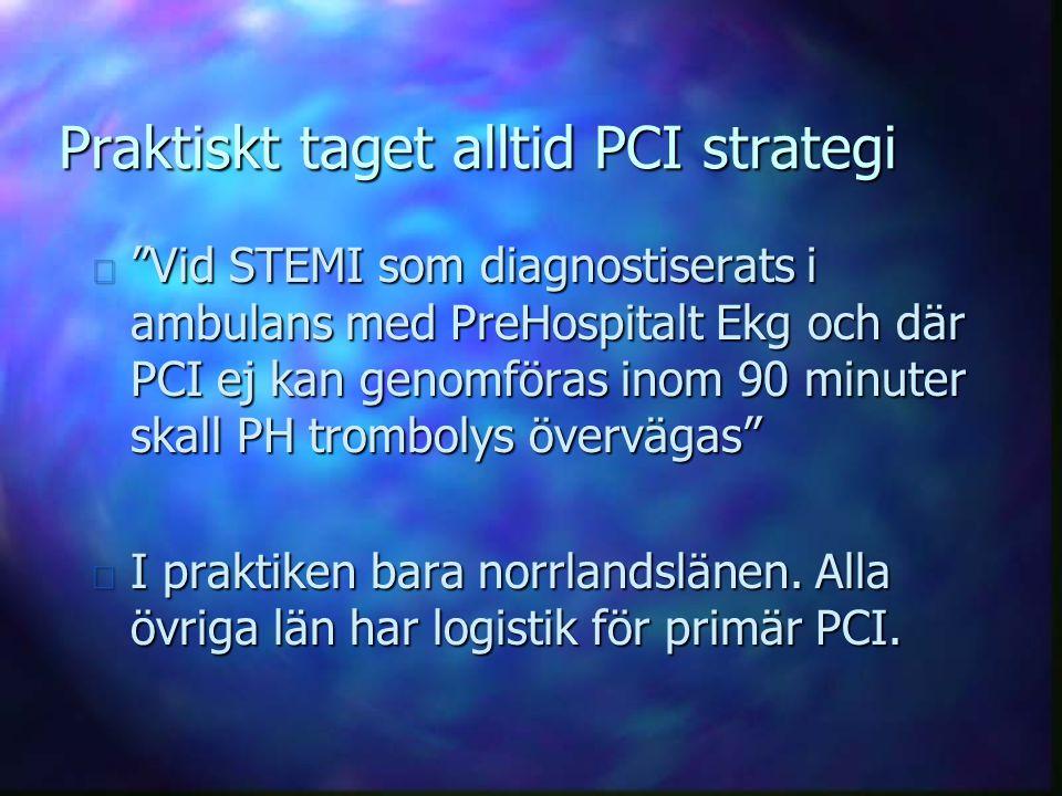 Praktiskt taget alltid PCI strategi