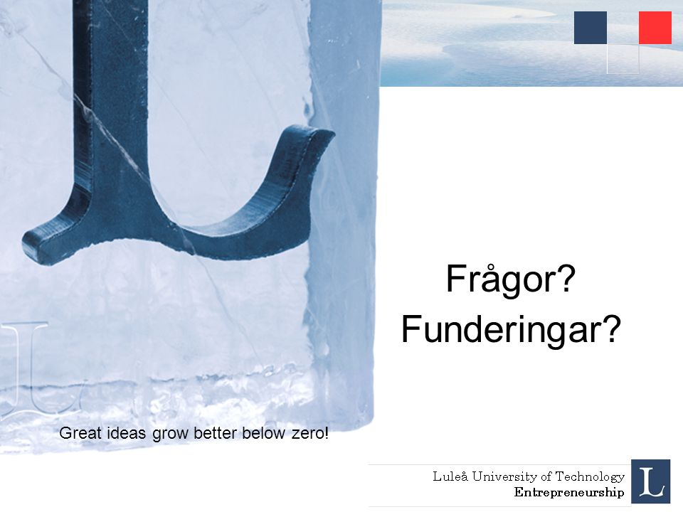 Frågor Funderingar Great ideas grow better below zero!