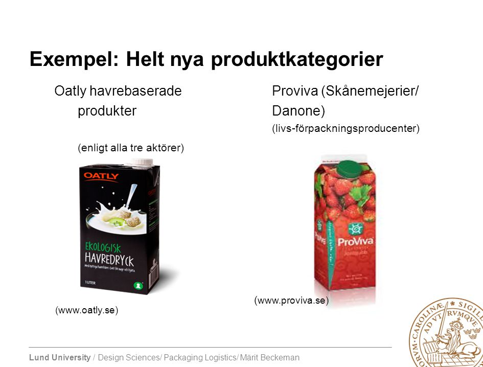 Exempel: Helt nya produktkategorier