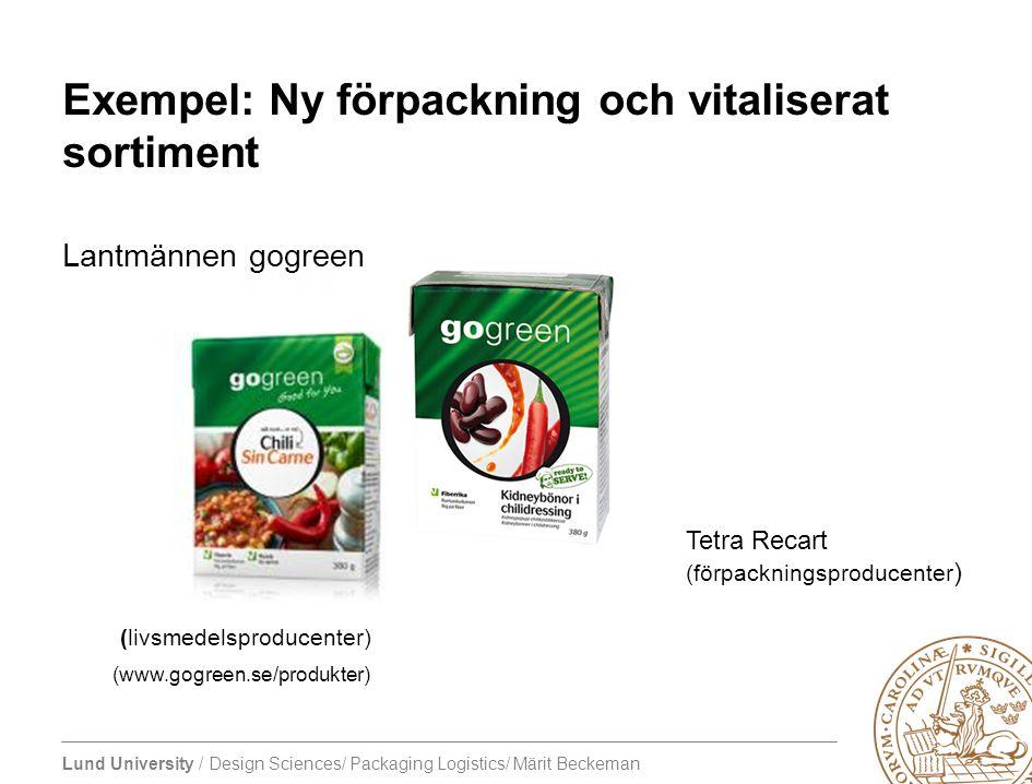 Exempel: Ny förpackning och vitaliserat sortiment