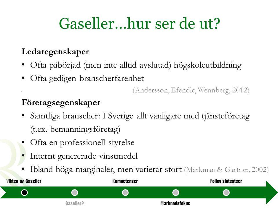 Gaseller…hur ser de ut Ledaregenskaper
