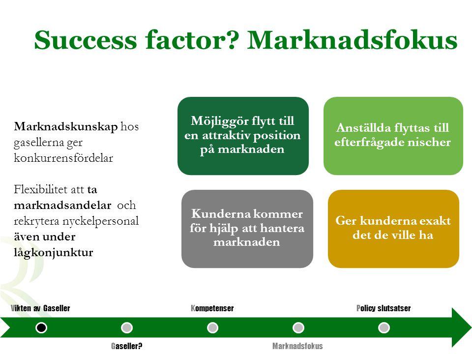 Success factor Marknadsfokus