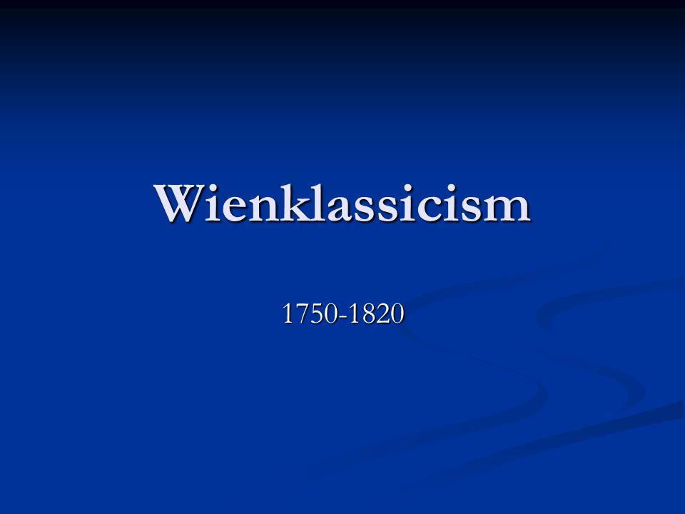 Wienklassicism 1750-1820