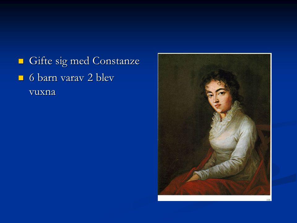 Gifte sig med Constanze