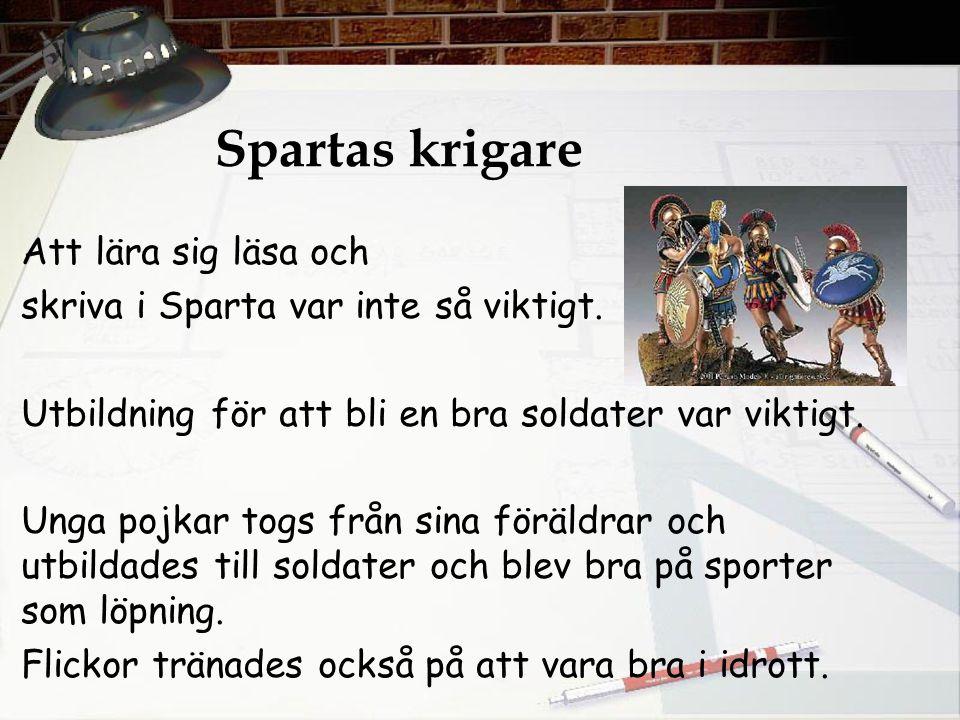 Spartas krigare Att lära sig läsa och