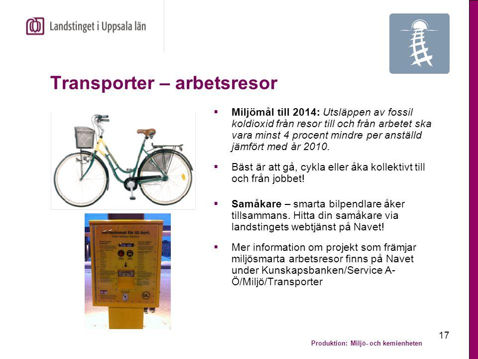 Transporter – arbetsresor