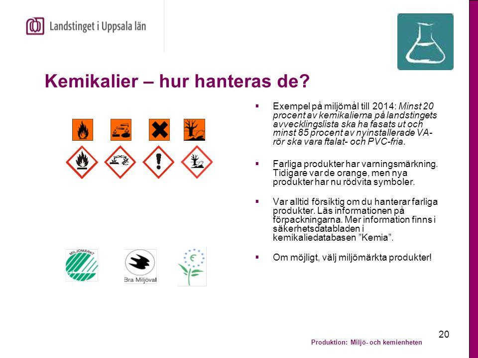 Kemikalier – hur hanteras de