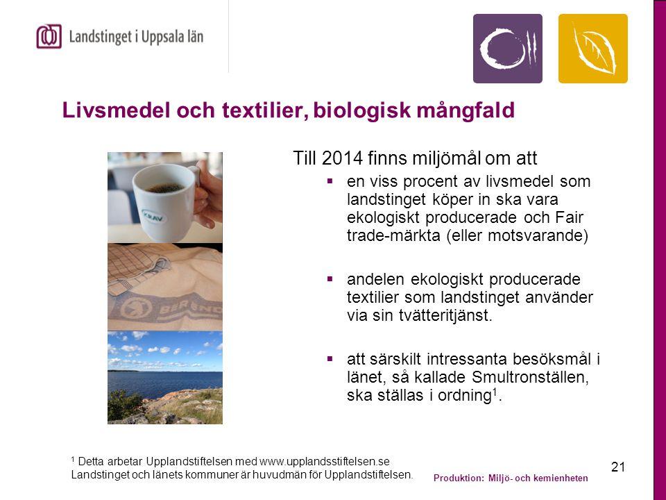 Livsmedel och textilier, biologisk mångfald