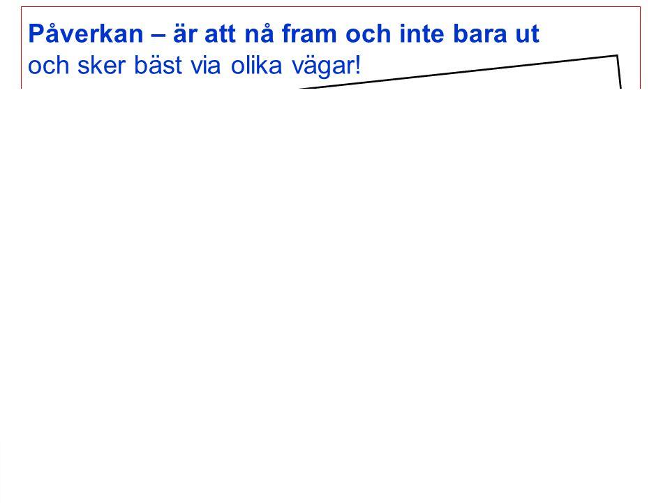www.strama.se Påverkan – är att nå fram och inte bara ut