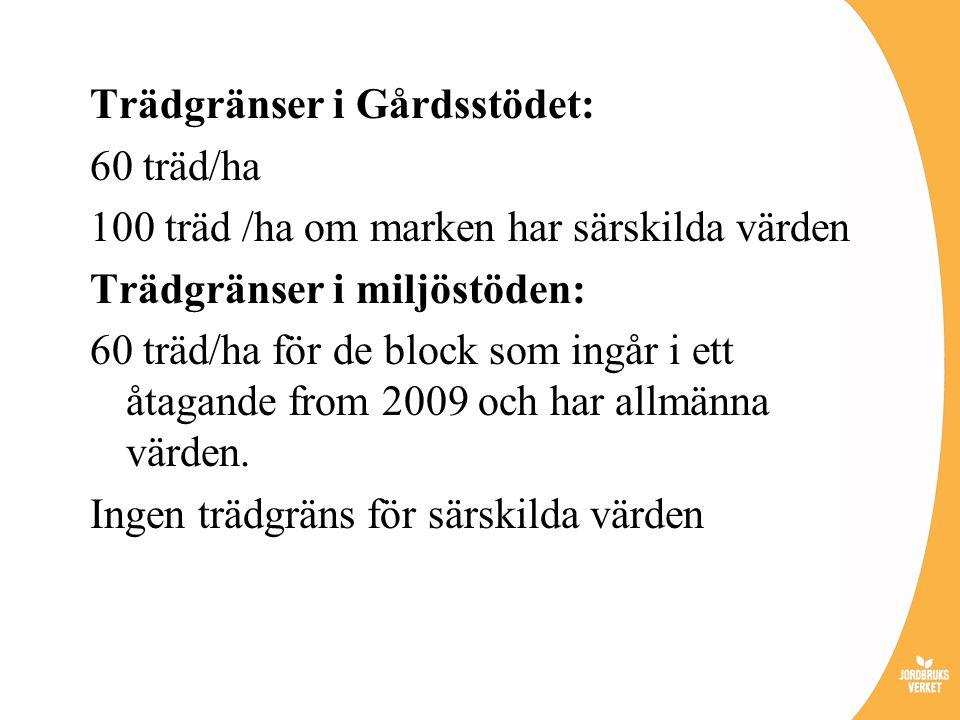 Trädgränser i Gårdsstödet: