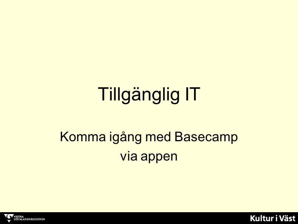 Komma igång med Basecamp via appen