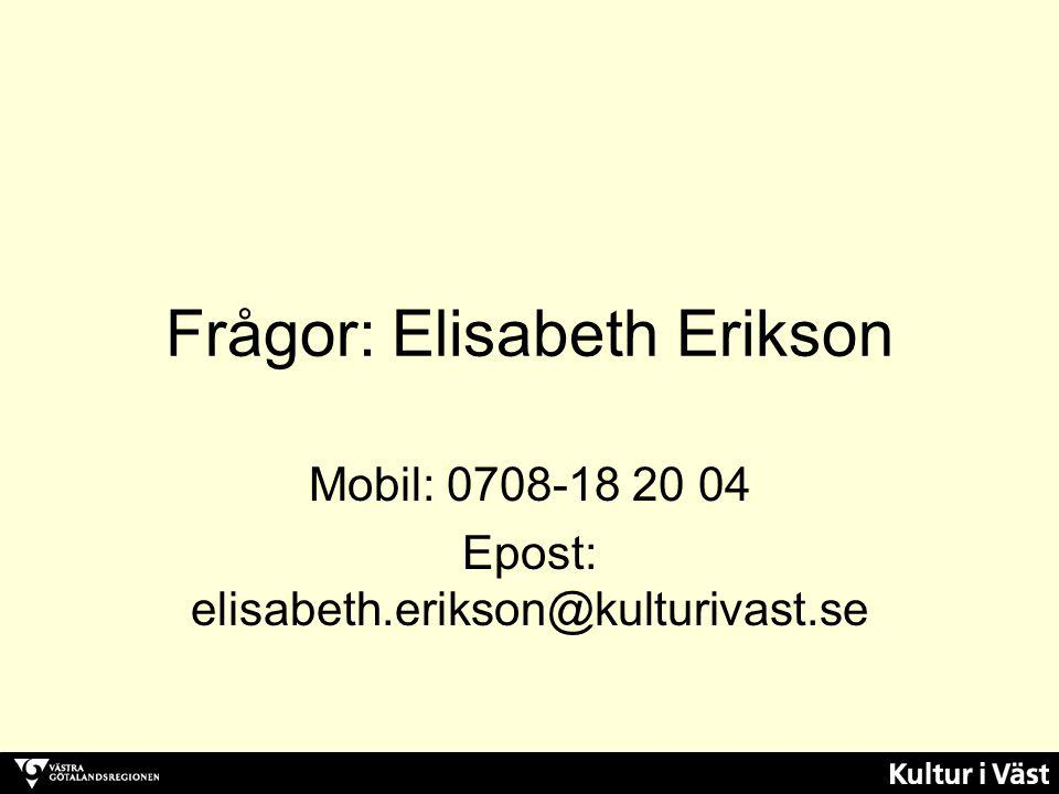 Frågor: Elisabeth Erikson