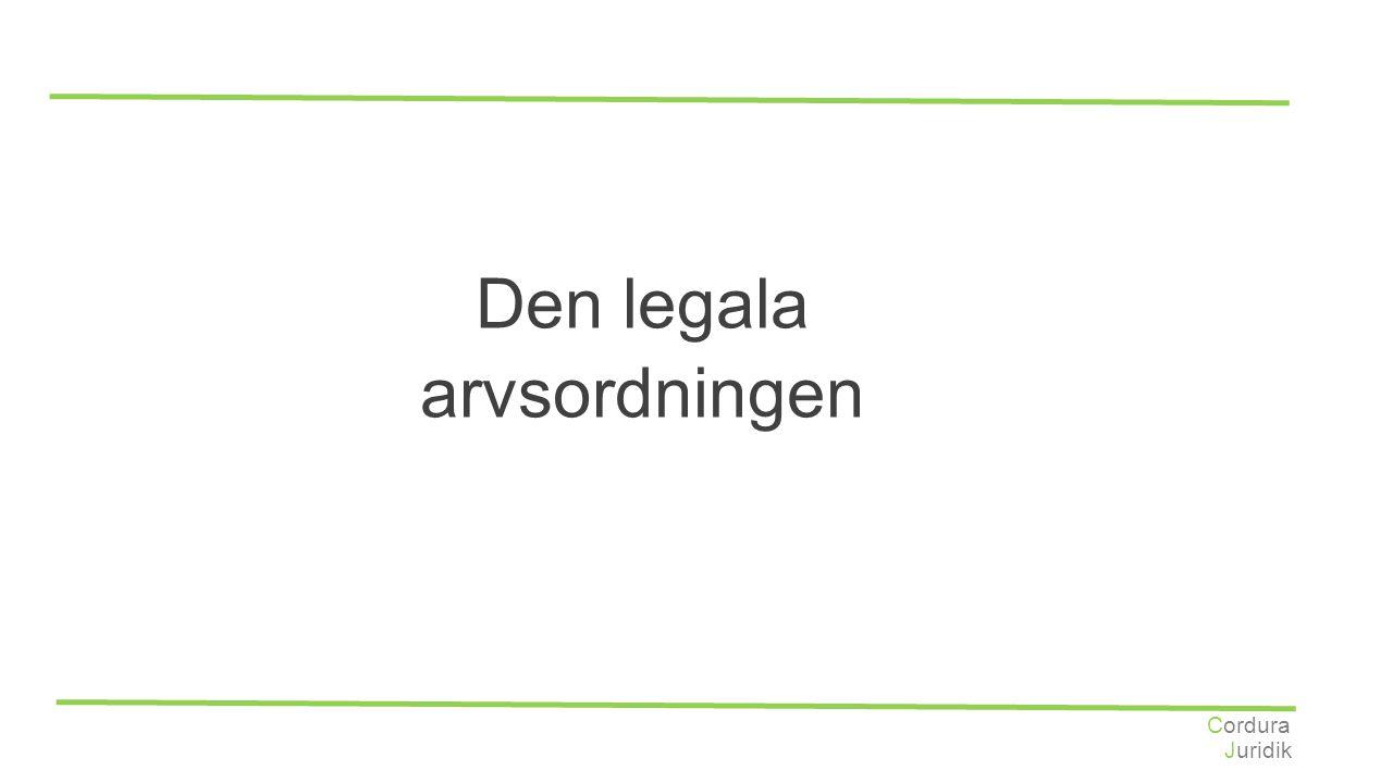 Den legala arvsordningen Cordura Juridik