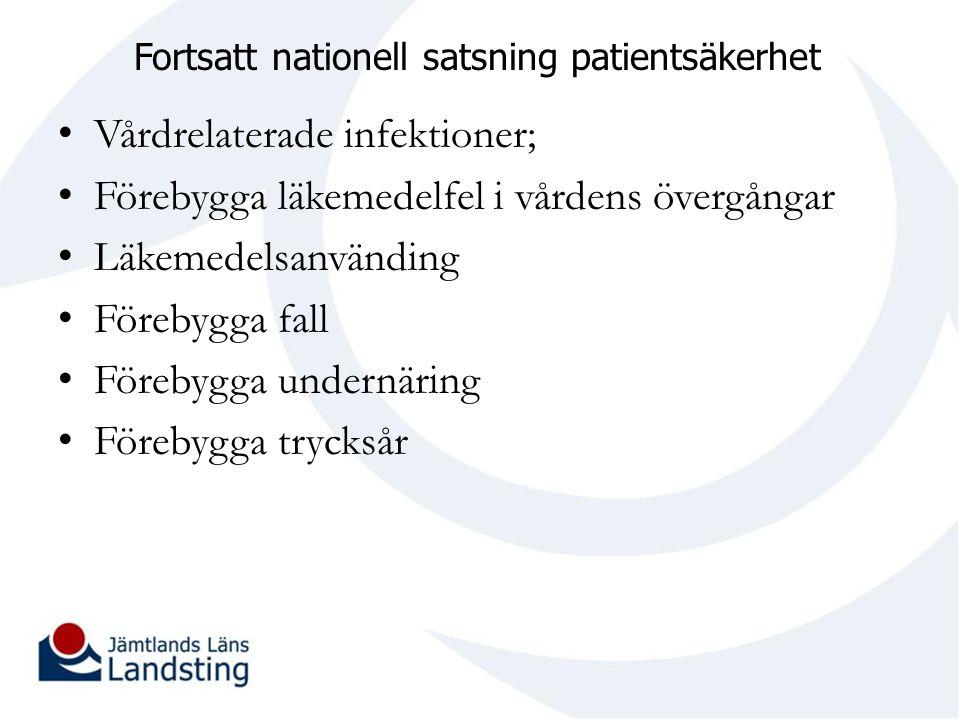 Fortsatt nationell satsning patientsäkerhet