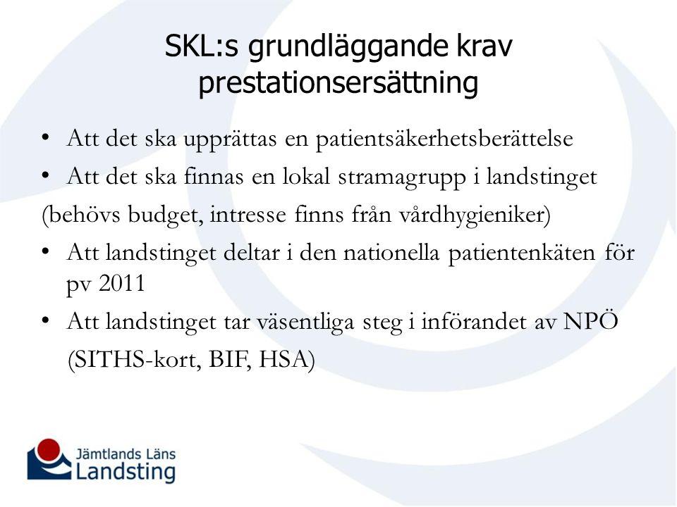 SKL:s grundläggande krav prestationsersättning