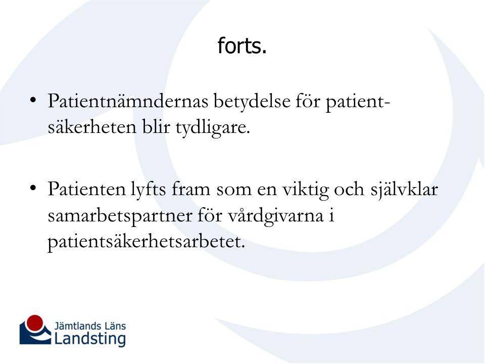Patientnämndernas betydelse för patient-säkerheten blir tydligare.