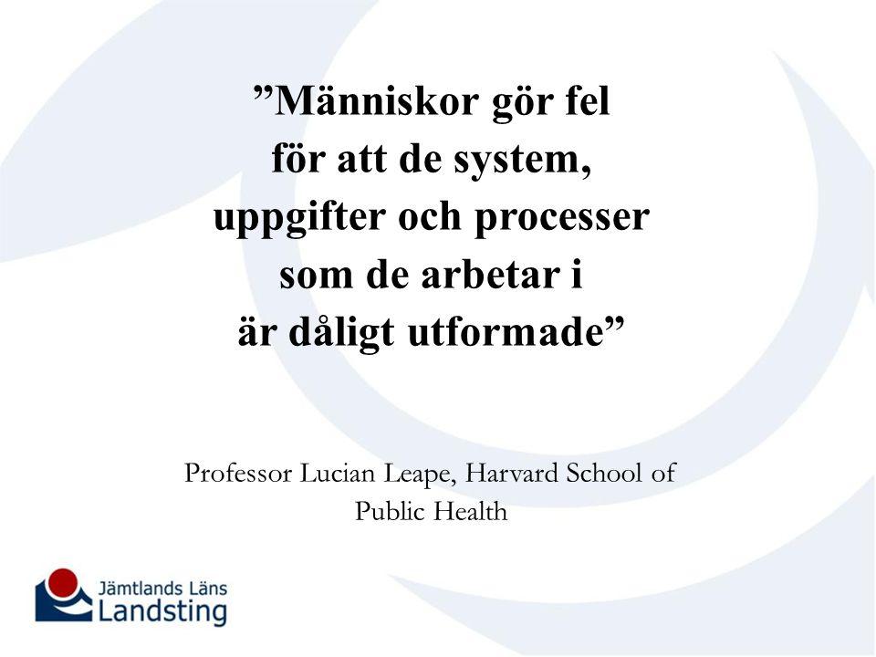 Professor Lucian Leape, Harvard School of Public Health