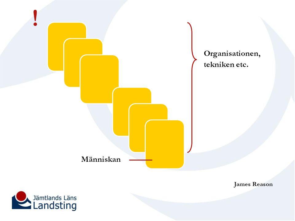 ! Organisationen, tekniken etc. Människan James Reason