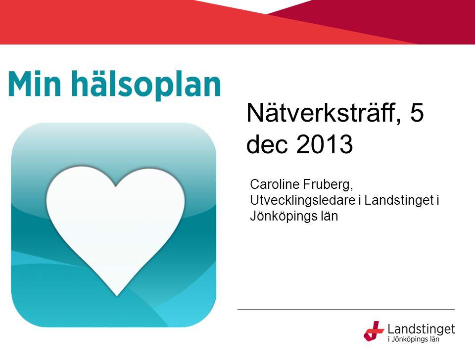 Caroline Fruberg, Utvecklingsledare i Landstinget i Jönköpings län