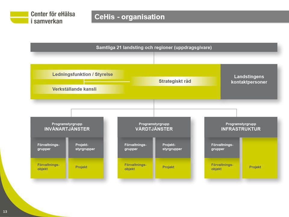 CeHis - organisation . 13